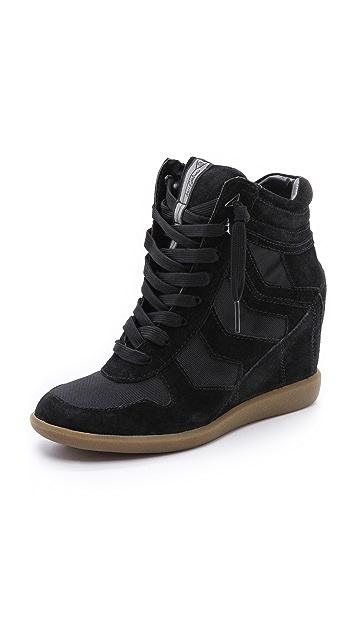 Sam Edelman Suede Bennett Wedge Sneakers