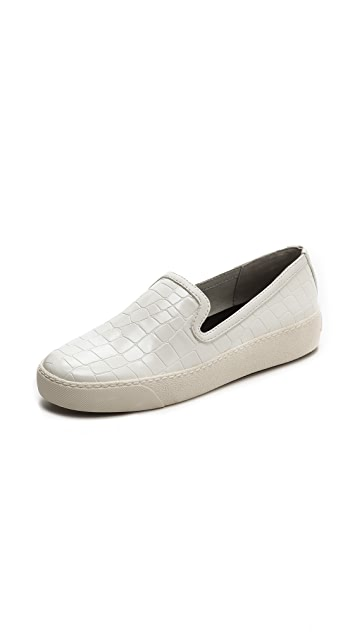 Sam Edelman Becker Croc Embossed Sneakers