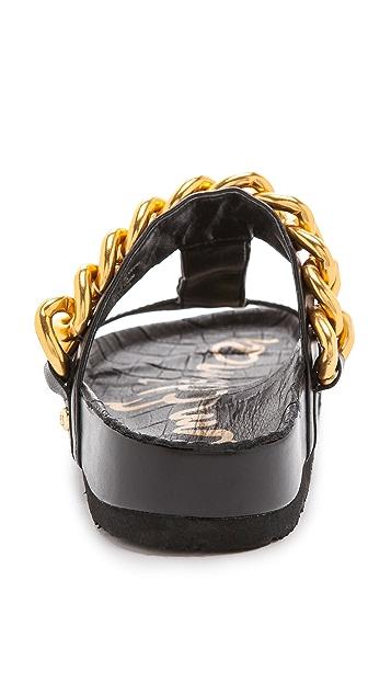 Sam Edelman Allyn Chain Trim Sandals
