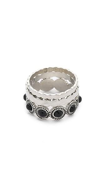 Sam Edelman Stone Stack Ring Set