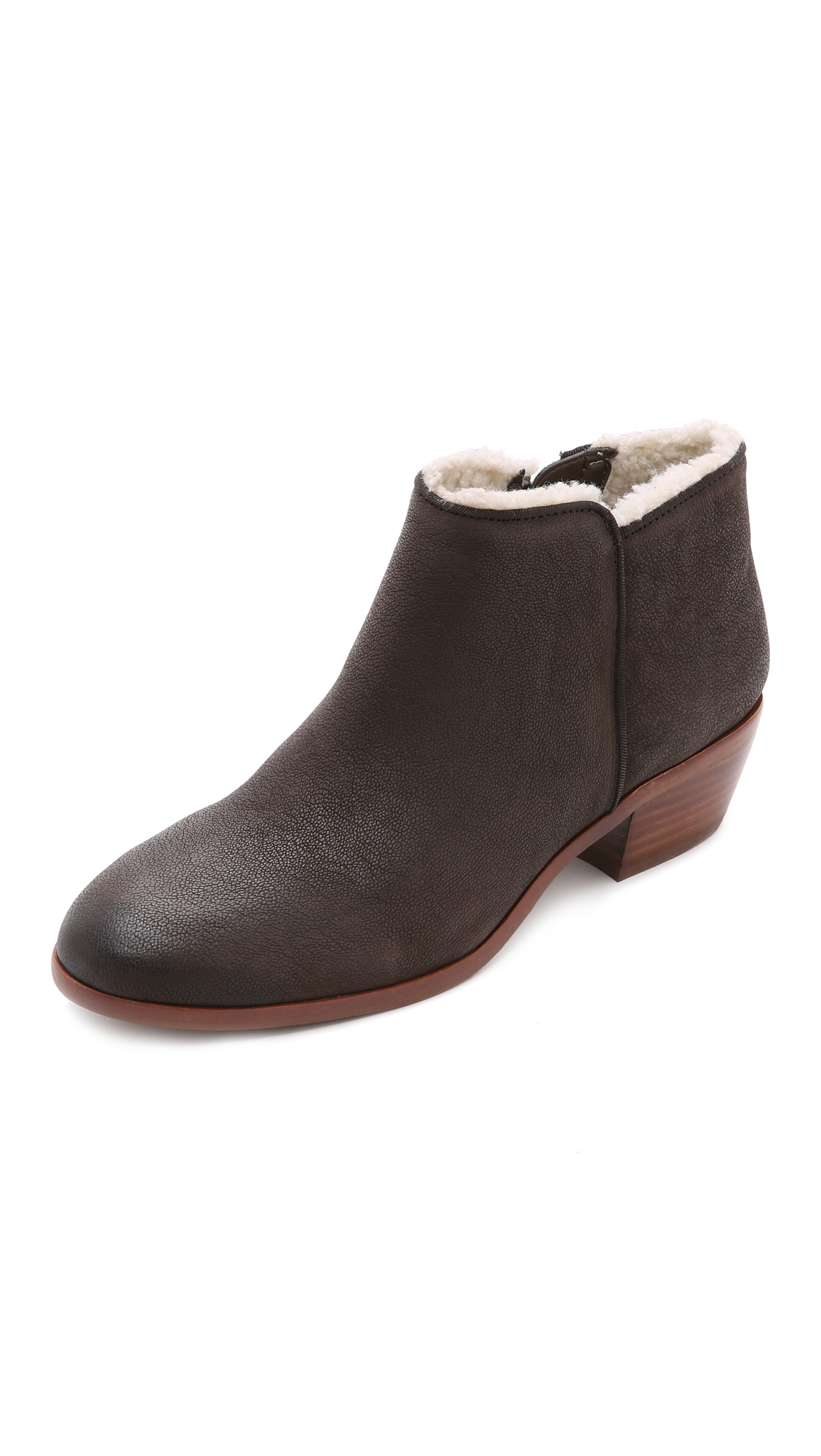 Sam Edelman Petty Lined Booties - Coffee