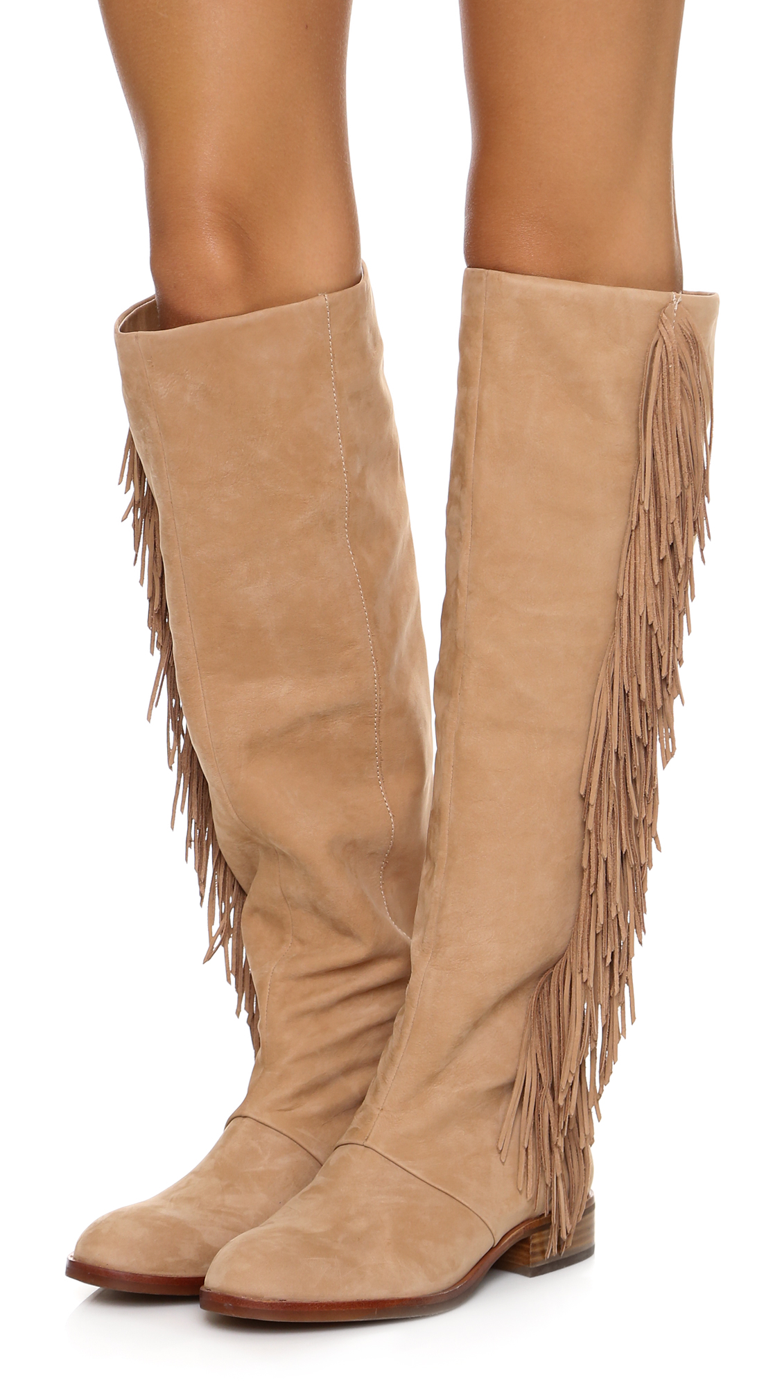Sam Edelman Josephine Fringe Boots | 15% off first app purchase ...