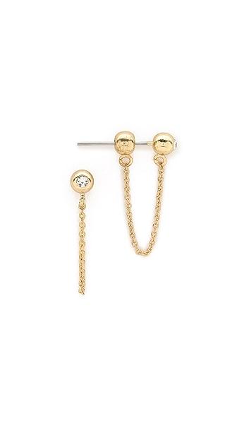 Sam Edelman Ball Chain Bar Earrings