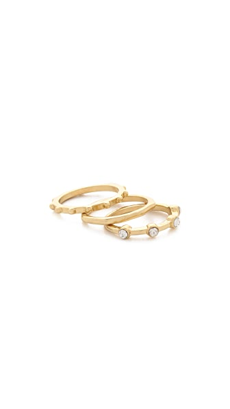 Sam Edelman 3 Stack Midi Ring Set