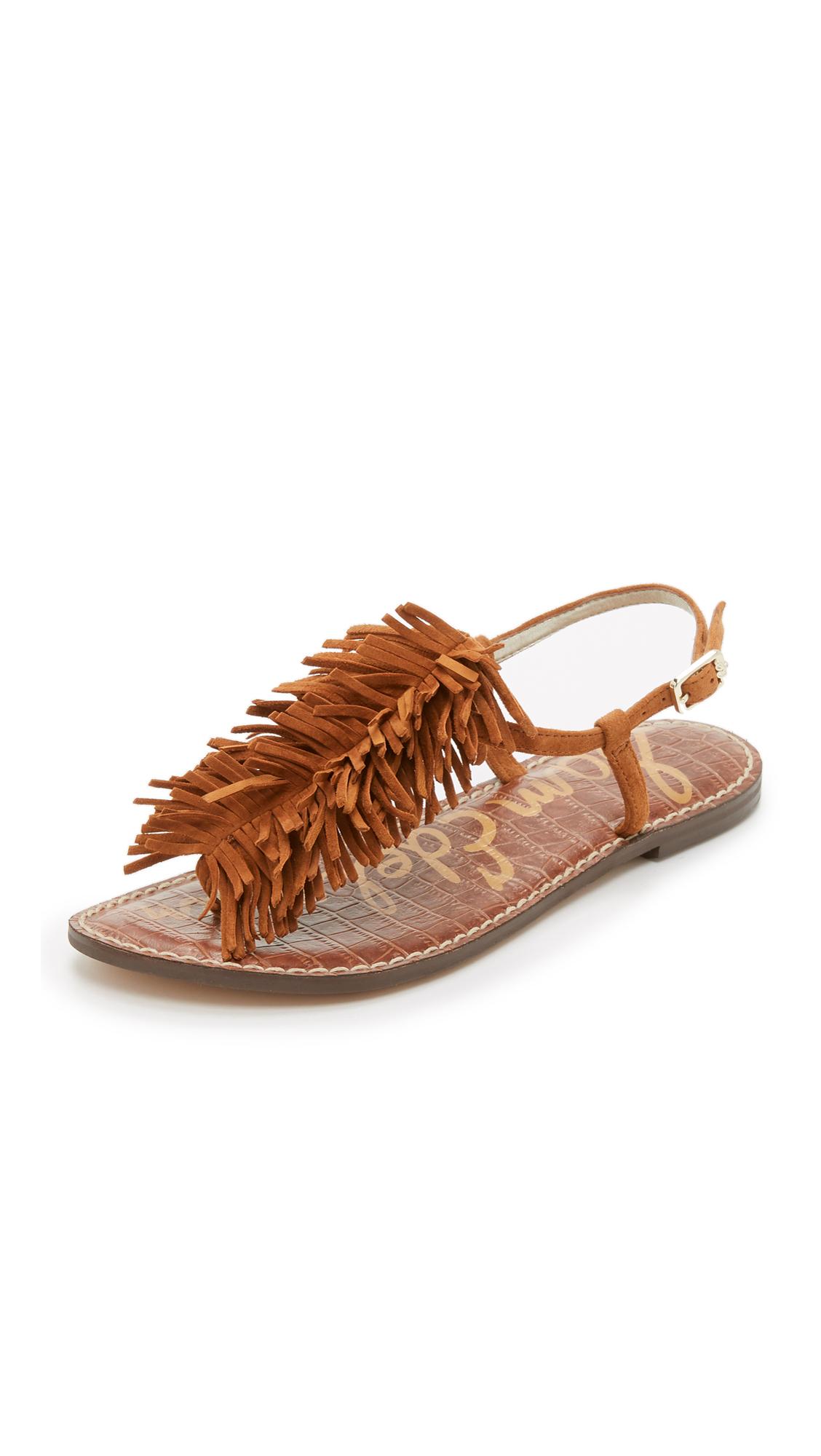 2737ef706e95 Sam Edelman Gela Fringe Flat Sandals