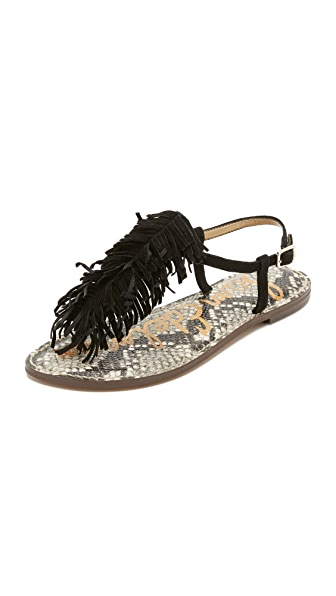 Sam Edelman Gela Fringe Flat Sandals