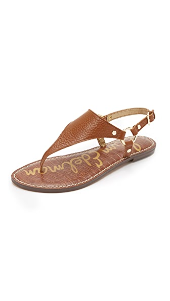 Sam Edelman Greta Thong Sandals - Saddle