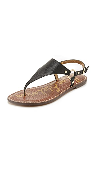 ec513e5cb Sam Edelman Greta Harness Ring Leather Thong Sandals In Black ...