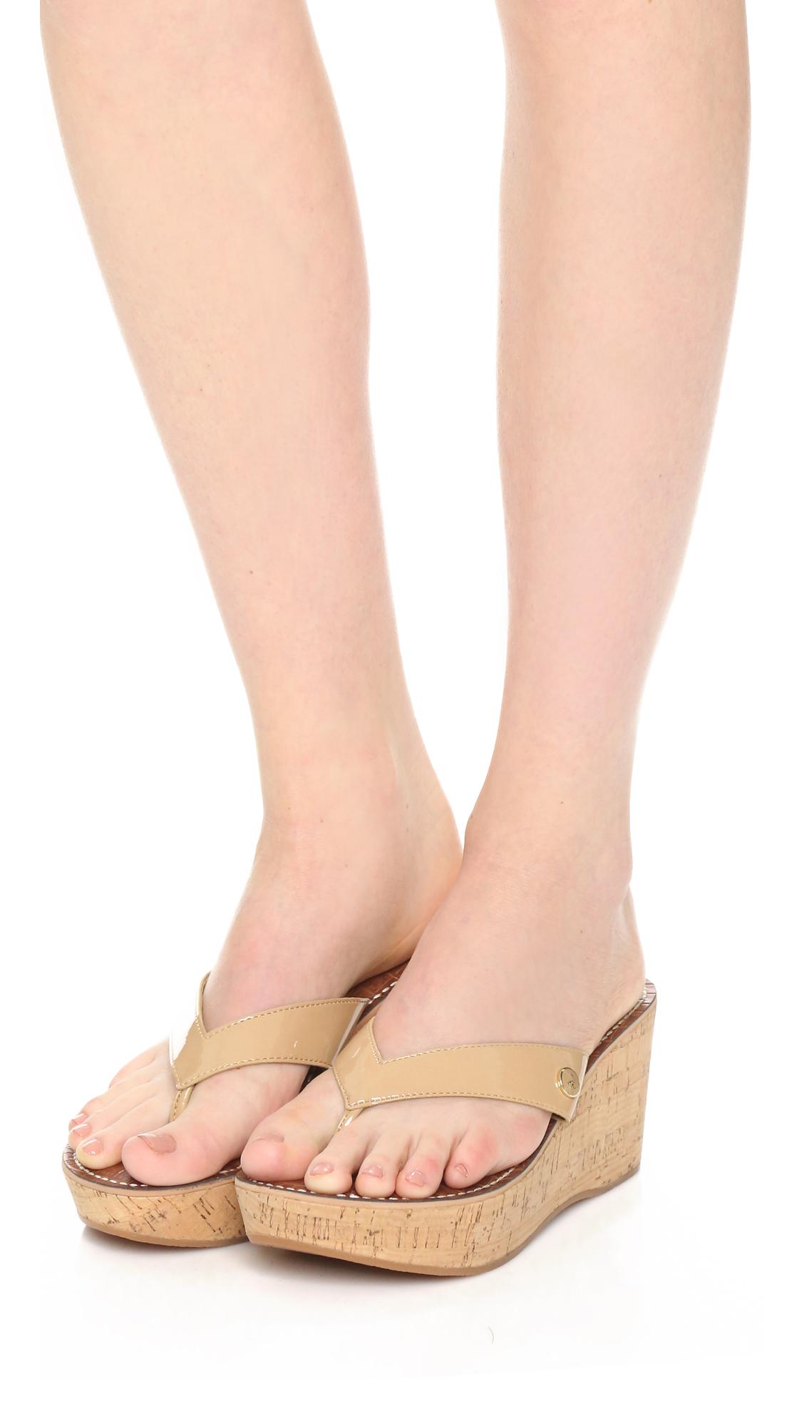 ed846a7fd118c8 Sam Edelman Romy Wedge Thong Sandals