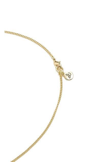 Sam Edelman Long V Fringe Pendant Necklace