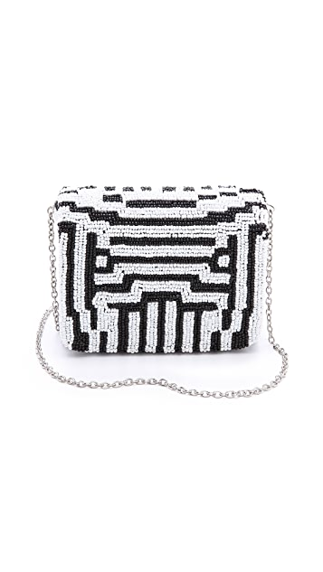 Santi Geometric Box Clutch