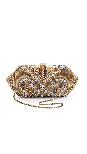 Santi Gold and Imitation Pearl Embroidery Clutch