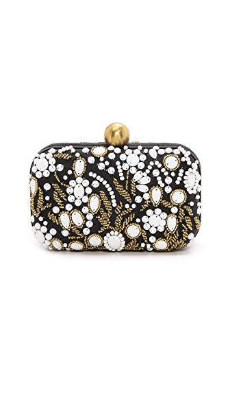 BEAD EMBROIDERED BOX CLUTCH