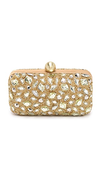 Santi Metallic and Stone Clutch