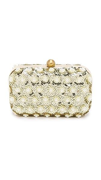 Santi Floral Imitation Pearl Clutch