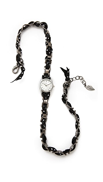 Sara Designs Polka Dot Wrap Watch