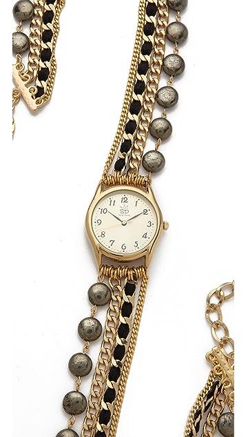 Sara Designs Coin Shaped Wrap Watch