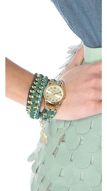 Sara Designs Asymmetrical Woven Wrap Watch