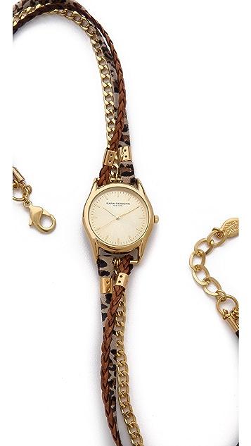 Sara Designs Leo Chain Wrap Watch