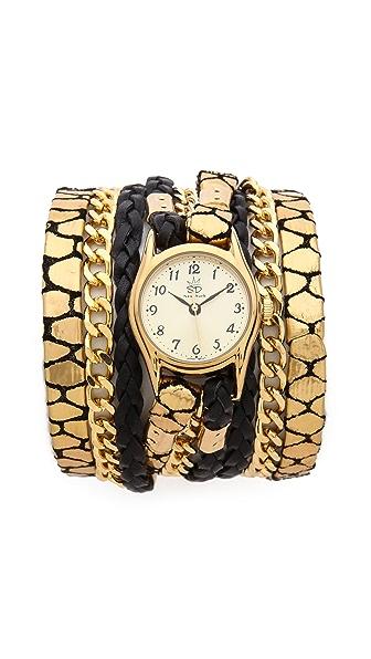 Sara Designs Jirafa Chain Wrap Watch