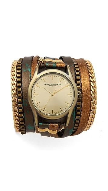 Sara Designs Croc Wrap Watch