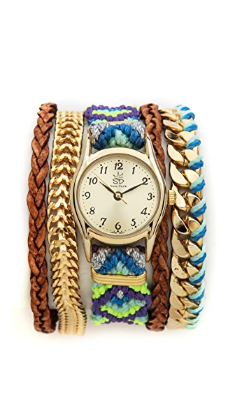 Sara Designs Bright Woven Magenetic Watch