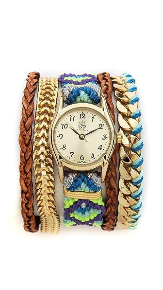 Sara Designs Bright Woven Magenetic Watch