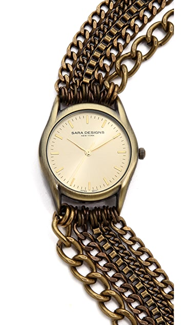 Sara Designs Chain Wrap Watch