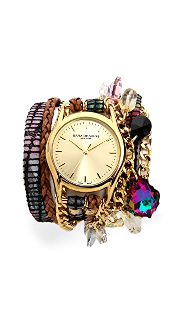 Sara Designs Candy Wrap Watch