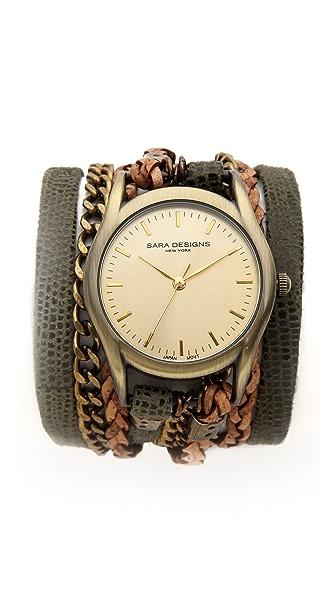 Sara Designs Army Wrap Watch