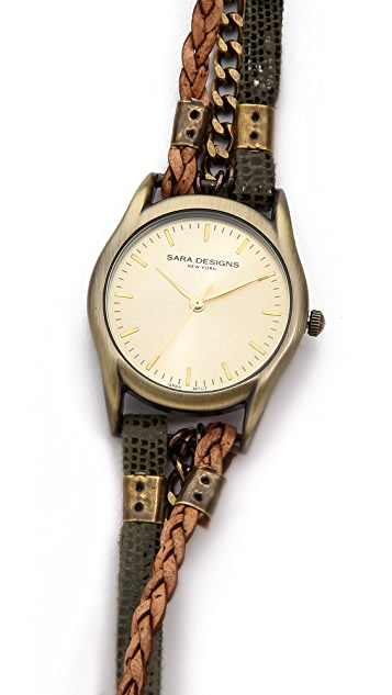 Sara Designs Army Wrap Watch