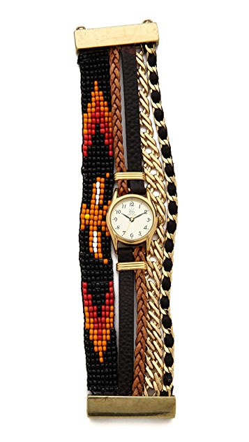 Sara Designs Woven Magnetic Watch