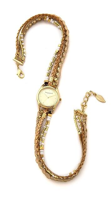 Sara Designs Braided Wrap Watch