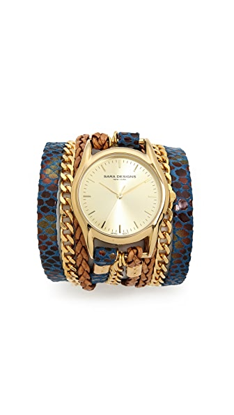 Sara Designs Snake Wrap Watch