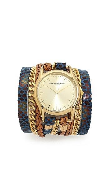 Sara Designs Snake Wrap Watch