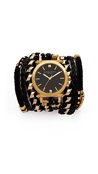Sara Designs Golden Wrap Watch