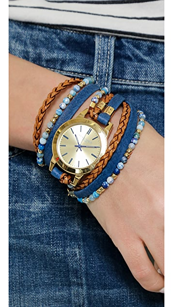 Sara Designs Beaded Wrap Watch