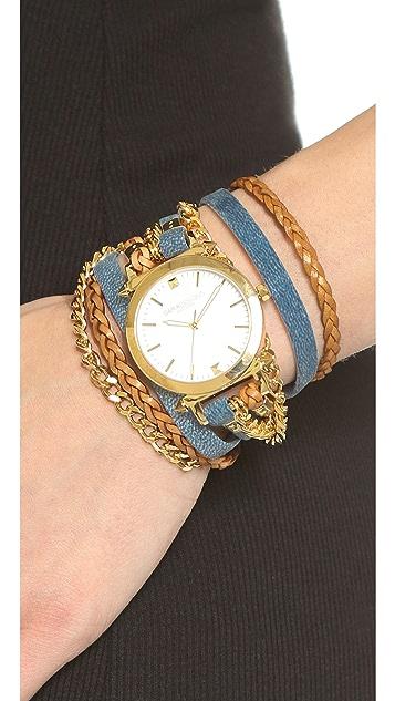 Sara Designs Denim Watch Watch