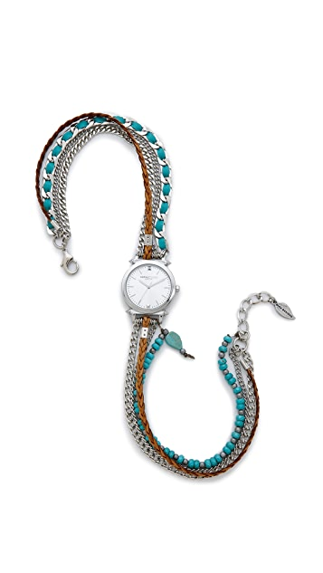 Sara Designs Turquoise Wrap Watch