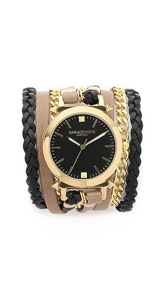 Sara Designs Urban Spike Wrap Watch