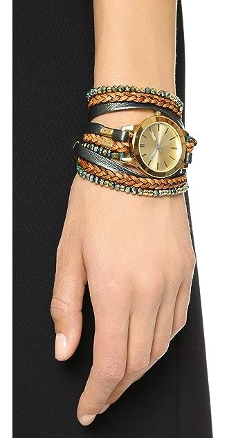 Sara Designs Lil Crystal Wrap Watch