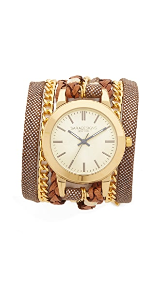 Sara Designs Classic Wrap Watch