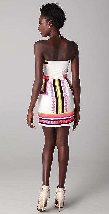 sass & bide Pick 'N Mix Strapless Dress