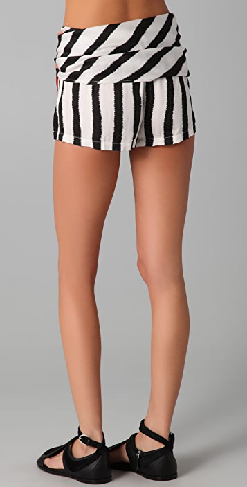 sass & bide Two Futures Striped Shorts