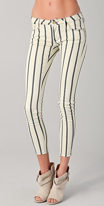 sass & bide Force of Nature Striped Skinny Jeans