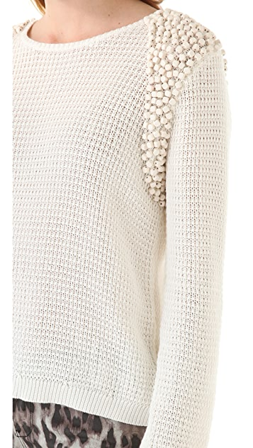 sass & bide Leader of the Pack Beaded Sweater