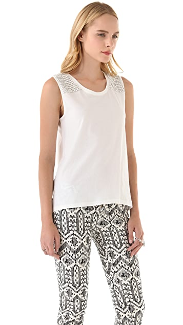 sass & bide The Spot Bright Beaded Tank
