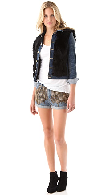 sass & bide The End of History Studded Shorts