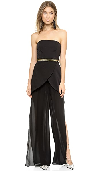 sass & bide Give a Cheer Strapless Jumpsuit