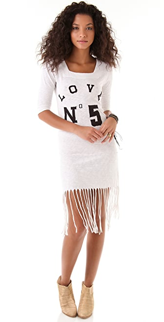 Sauce Long Fringe Dress